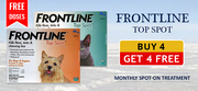 Buy 4 Get 4 Free Offer Frontline Top Spot For Dogs